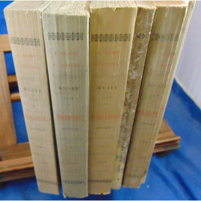 Allmer A : Musée de Lyon. inscriptions Antiques. complet des 5 volumes...