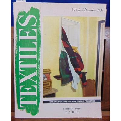 Collectif  : Textiles Octobre décembre 1951...