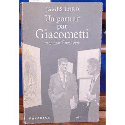 Lord  : Un portrait de giacometti...