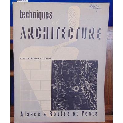 : Technique architecture 9e année N°3-4 Alsace Routes & ponts...