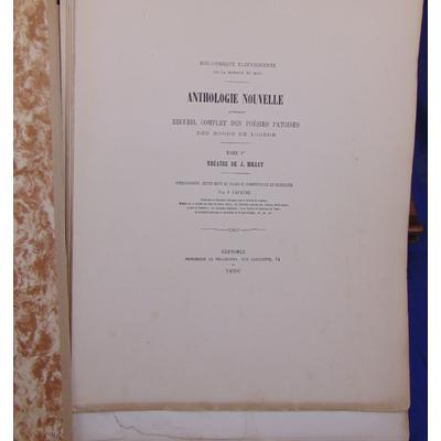 : Recueil complet des poésies patoises des bords de l'isere. tome 1 Theatre de Jean Millet...