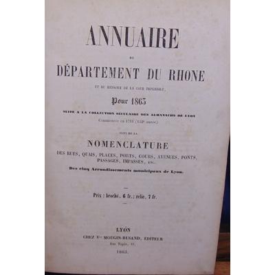 : Annuaire du département du Rhone pour 1863...