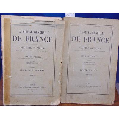 Hozier Charles d : Armorial général de France. Tome 1 et 2 Bourgogne...