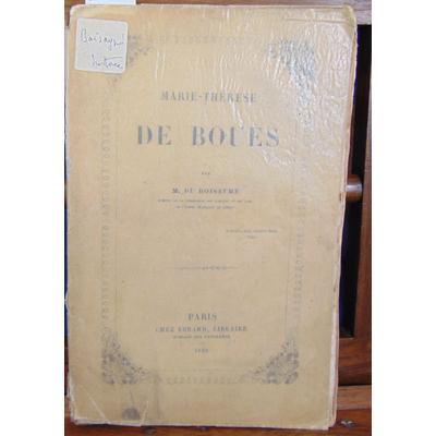 Boisaymé M. Du : Marie-Therese de Bouès...