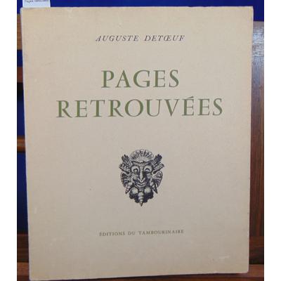 Detoeuf  : Pages retrouvées...