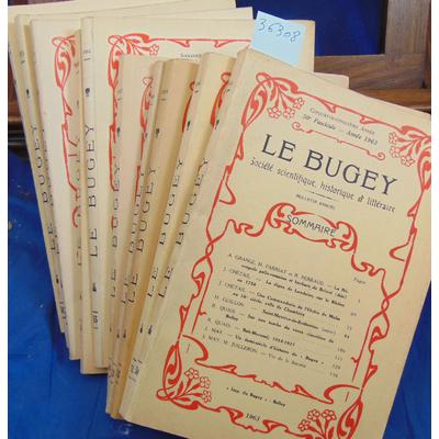 : Le Bugey Société scientifique  N° 50 51 52 53 54 55 56 57 58 59...