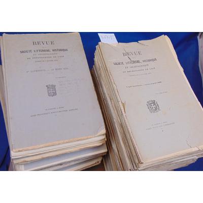 : Lot 86 Livraisons société Littéraire historique et archéologique du département de L'ain  1872 - 1888....