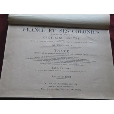 VUILLEMIN / Poirée : La France. Nouvel atlas illustré des départements et des colonies, dressé d'après les car