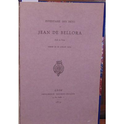 : Inventaire des biens de Jean de Bellora Curé de Vaise. Dressé le 10 juillet 1374...
