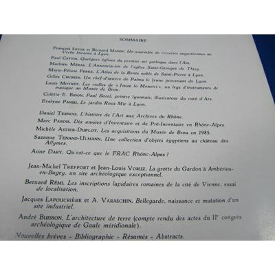 collectif : Cahiers René de Lucinge N° 2 de 1986 art et archéologie en rhone alpes...