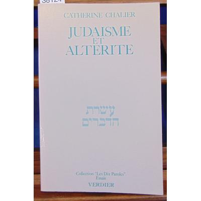 chalier  : Judaisme et altérité...