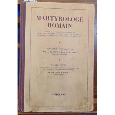 Baudot  : Martyrologie romain...