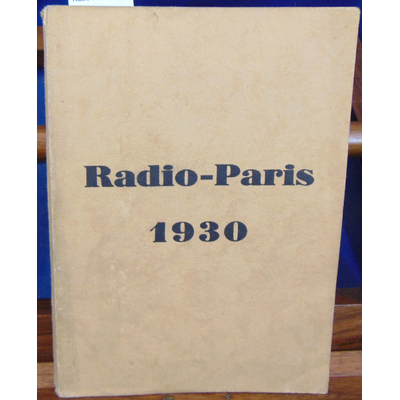 : Radio-Paris 1930...