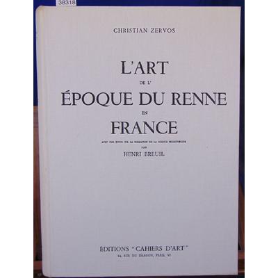Zervos  : L'art de l'époque du renne en France...