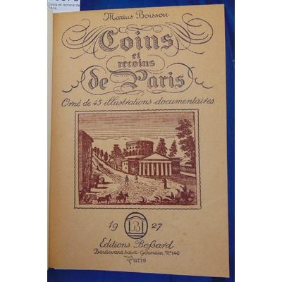 Boisson  : Coins et recoins de Paris...