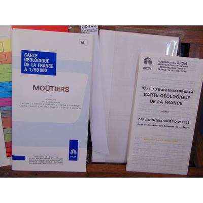 Debelmas  : Carte géologique de la France. Moutiers 1/50 000...
