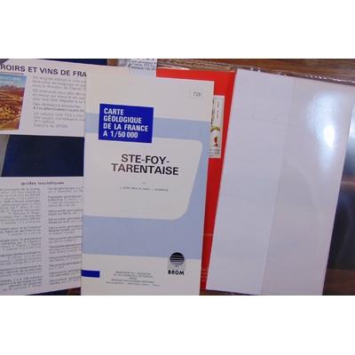 Debelmas  : Carte géologique de la France. STE Foy-Tarentaise 1/50 000...