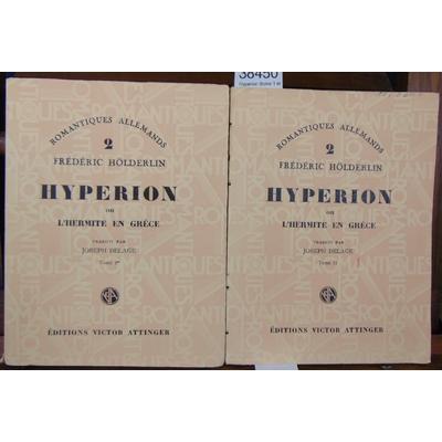 Hoderlin  : Hyperion (tome 1 et 2)...