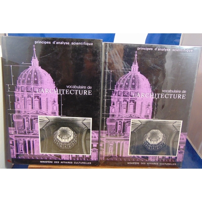 Collectif  : Vocabulaire de l'architecture. Principes d'analyse scientifique (2 volumes)...
