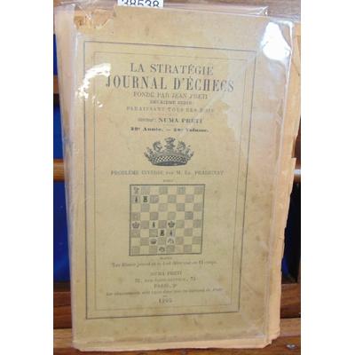 Preti  : la stratégie journal d'échec.1905, 39e année. 38e volume...