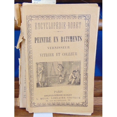 Riffault  : nouveau manuel complet du peintre en batiments, vitrier, doreur, argenteur et vernisseur....