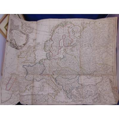 Nolin  : nouvelle carte d'Europe divisée en ses empires et royaume 75 x 55 cm...