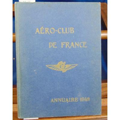 : Aéro-club de France Annuaire 1948...