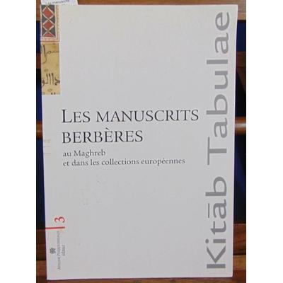 Irenam  : Les manuscrits berbères au Maghreb et dans les collections européennes : Localisation, identificatio