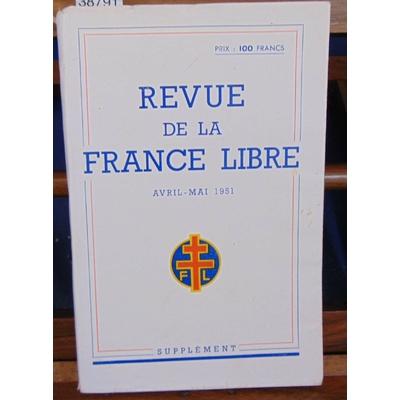: Revue de la France Libre. avril - mai 1951, supplement. Liste des membres...