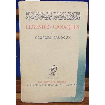 Baudoux  : Légendes canaques...