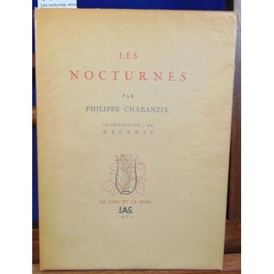 Chabaneix  : Les nocturnes. envoi autographe de l'auteur...