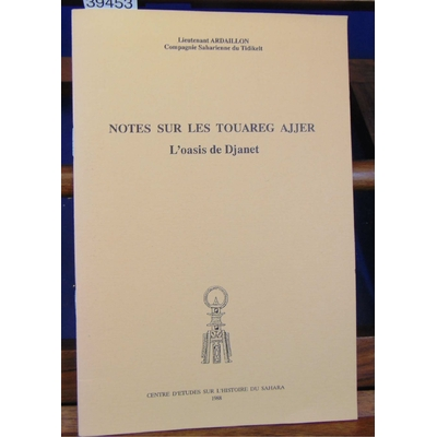 Ardaillon  : Notes sur les touaregs Ajjer...