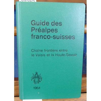 Bossus  : Guide des préalpes Franco-Suisses...