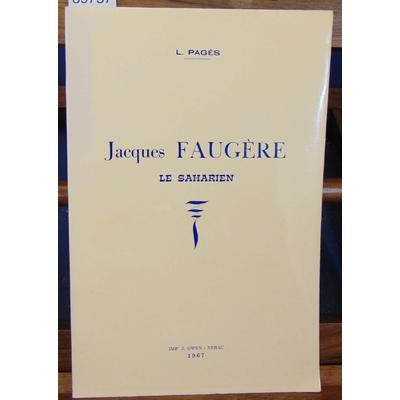 Pages  : Jacques Faugère. Le saharien...