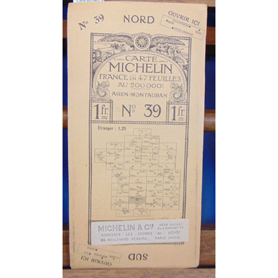 : Carte Michelin au 200 000e Agen Mautauban...