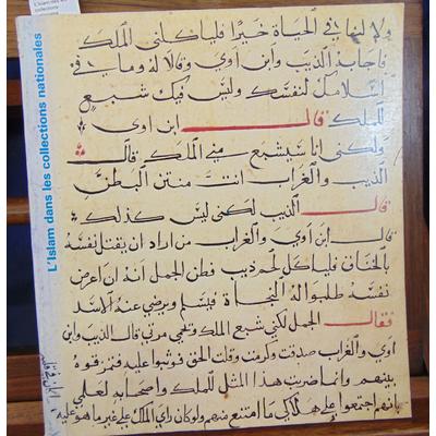 Roux  : L'islam des les collections nationales...