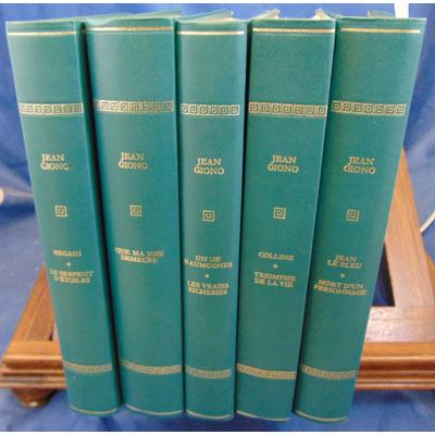 Giono  : Oeuvres ( 5 volumes illustrés ) Editions Rombaldi...
