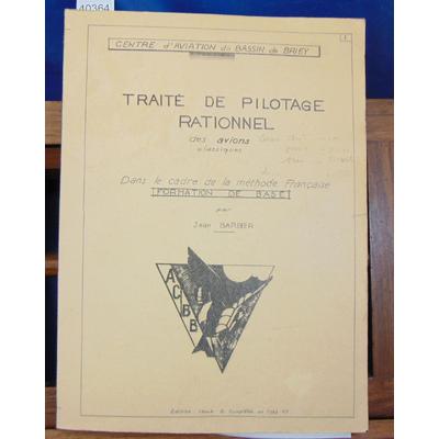 Barbier  : Traité de pilotage rationnel des avions classiques...