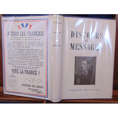 Gaulle  : Discours et message...