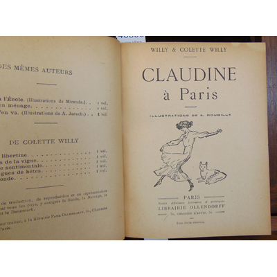 Colette  : Claudine à Paris. illustrations de A. Roubille...
