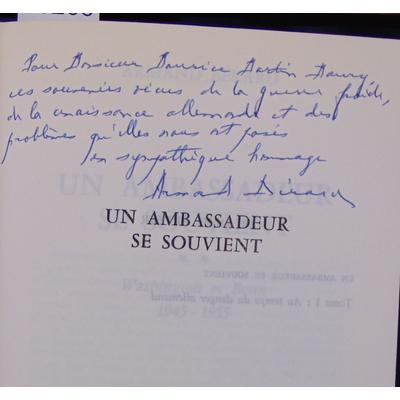 Berard  : Un ambassadeur se souvient. Washington et bonn 1945 1955...