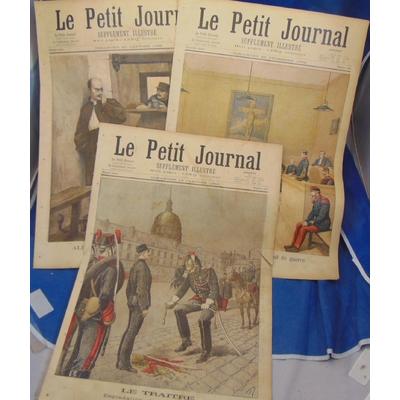 : 3 N° Le petit Journal Supplément Illustré 1894 1895  Dreyfus...