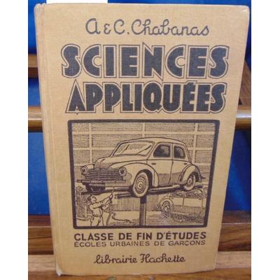chabanas  : Sciences appliquées...