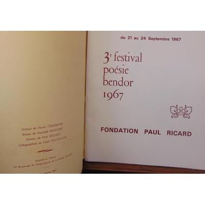 : 3e festival poésie bendor 1967...