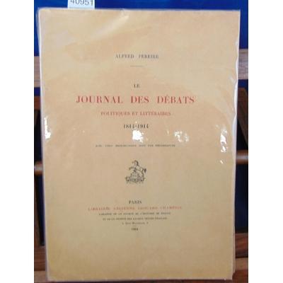 Pereire  : Le journal des débats politiques et littéraires (1814-1914)...