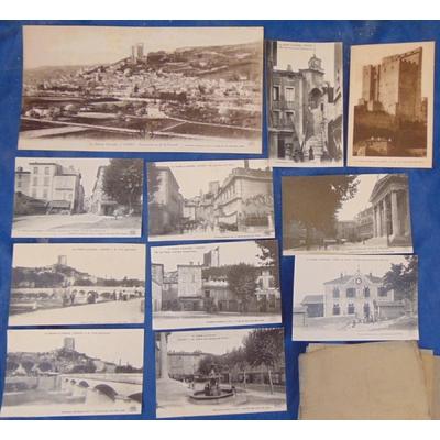 Crest  : 11 cartes postales CREST (Drome illustrée années 1930 )...