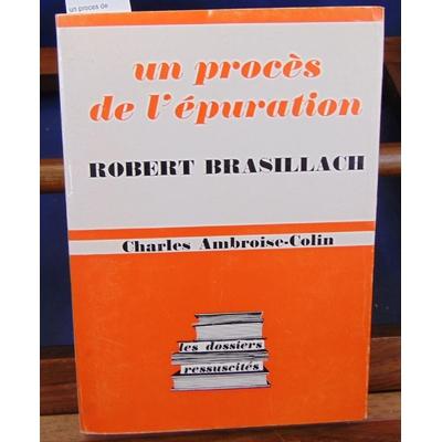 Ambroise-Colin  : un proces de l'épuration...