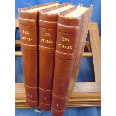 Divers  : La grammaire des styles. 15 titres reliés en 3 volumes...