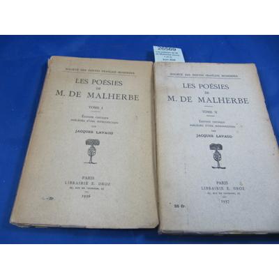 Malherbe : Les poésies de M. de Malherbe (tome 1 et 2)...