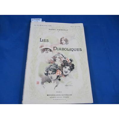 Aurévilly : Les Diaboliques. Illustrations d'après les aquarelles de M. Marodon...